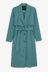 Green soft trench coat_9