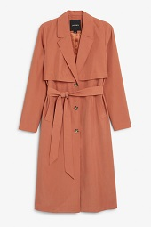 Red soft trench coat_8