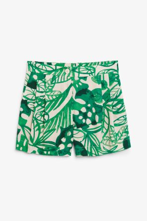 Flowy tailored shorts green_12