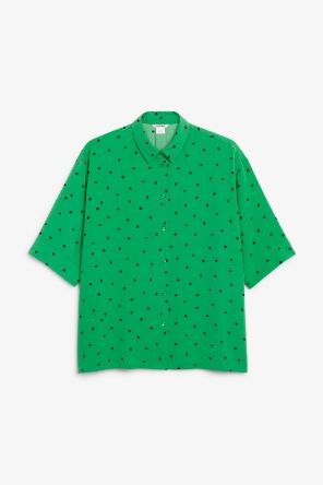 Button up blouse dots and triangles_9