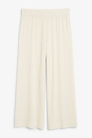 Wide ribbed trousers beige_2