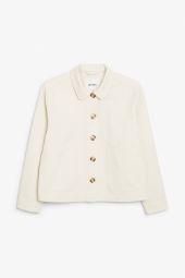 Cropped boxy jacket beige_7
