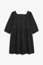 Square neck dress black_11