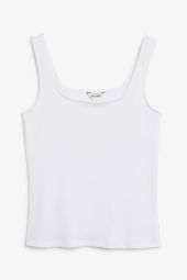 Classic ribbed tank top white_8