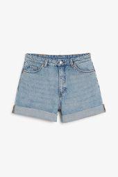 High waist denim shorts_9