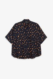 Oversized boxy shirt abstract dots_8