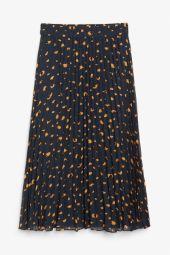 Pleated midi skirt blue_9