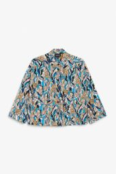 Wide sleeved blouse leafy print_8