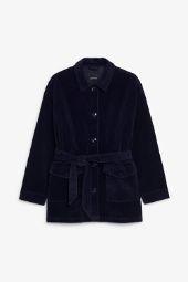 Belted corduroy jacket blue_3