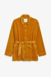 Belted corduroy jacket rusty orange_1