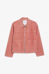 Boxy utility jacket dusty raspberry pink_2