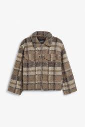 Plaid fleece jacket_6