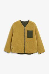 Reversible fleece jacket yellow_5