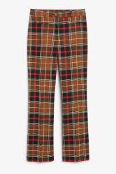 Dressy wide leg trousers beige_2