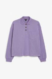 Long sleeve polo shirt purple_21