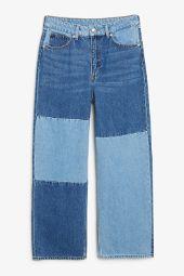 Mozik colour block jeans retro indigo_15