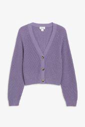 Ribbed cardigan purple._13