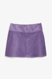 A-line cord mini skirt_14