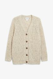Oversized cable knit cardigan_9