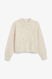 Puffed sleeve sweater_10