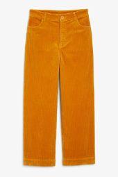 Wide leg corduroy trousers_1