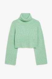 Cropped heavy knit sweater_3