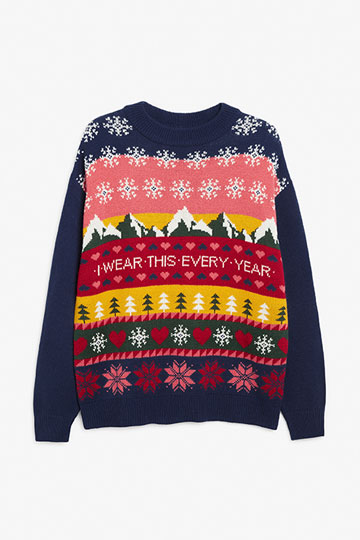 Knitted holiday sweater