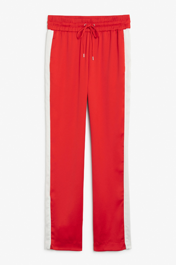 Side stripe trousers