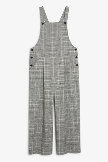 Wide leg dungarees