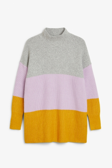 Long polo neck knit
