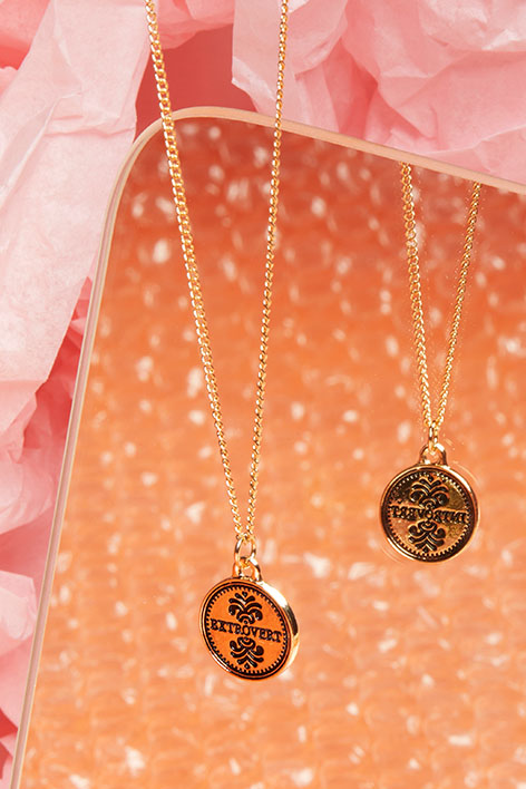 Mood medallion necklace