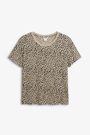 Graphical leopard print tee