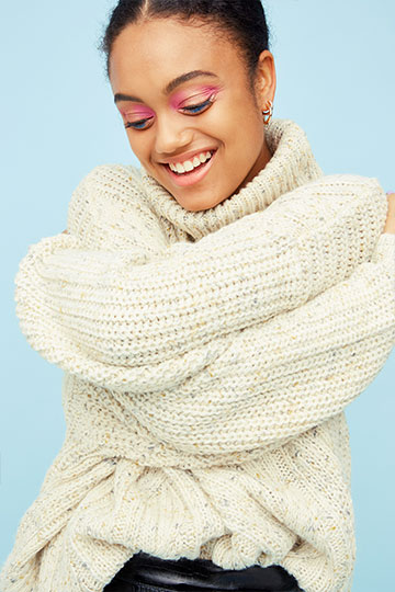 Heavy knit turtleneck sweater